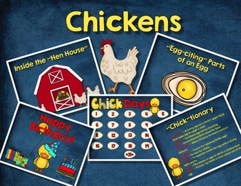 CHICKEN LIFE CYCLE - Digital Slideshow, Writing, and Hands-On Activities