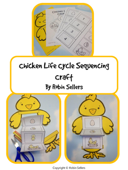 Chicken Life Cycle {Life Cycle of a Chicken Sequencing Card Craft}