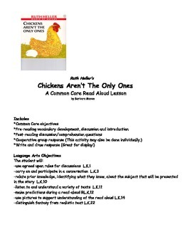 Chicken Life Cycle Literacy Math PACK with Lesson Plans 43 pages