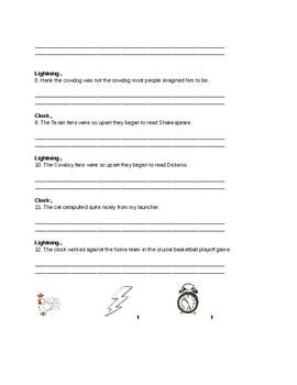 Chicken Lightning, Clock Sentence Variation and Revision Practice