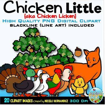 Chicken Little Clip Art for Personal and Commercial Use