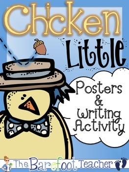 Chicken Little Posters (9 Total) & Corresponding Writing Activity