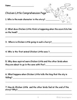 Chicken Little Reader's Theater and Activity Pack