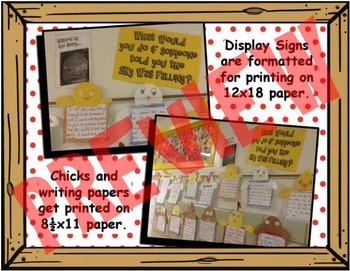 Chicken Little Writing Extension and Craftivity