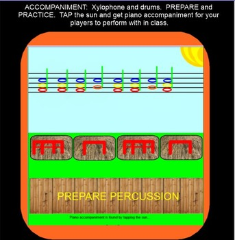 Chicken On The Fence Post ~ tika tika & phrases~ Game Song~ SMARTBOARD