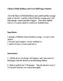 Chicken Polish Kielbasa and Sweet Bell Pepper Kabobs