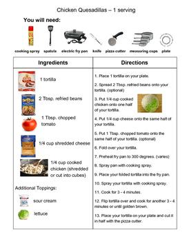 Recipe: Chicken Quesadillas