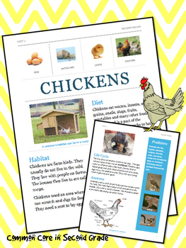 Chicken Research Project, Nonfiction Text- Life Cycles
