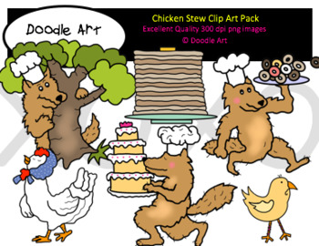 Chicken Stew Clipart Pack