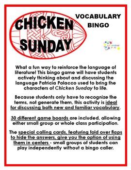 Chicken Sunday Vocabulary Bingo