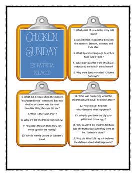 Patricia Polacco CHICKEN SUNDAY - Discussion Cards