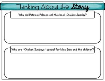 Chicken Sunday by Patricia Polacco Story Unit