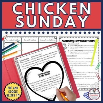 Chicken Sunday by Patricia Polacco is a great book for the middle grades for use any time of year. This Chicken Sunday unit includes before/during/after activities and is Common Core aligned. It includes a full color digital option using Google Slides TM and black and white PDF printables. The skills includes are listed with the resource description.
