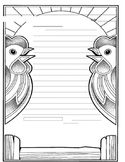 Chicken Themed Friendly Letter Template