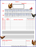 Chicken Themed Piano Lesson Assignment Sheet