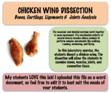 Chicken Wing Dissection - Skeletal and Muscular Systems (Editable)