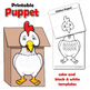 Chicken and Chick Puppets