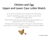 Chicken and Egg Letter Match