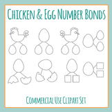 Chicken and Egg Number Bond Clip Art Commercial Use