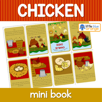 Chicken life cycle mini book