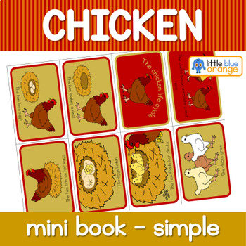 Chicken life cycle mini book (simplified version)