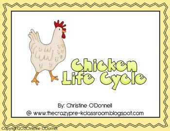 Chicken life cycle: teacher book, minibook, craftivity, an