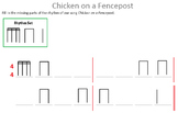 Chicken on a Fence post Rhythm worksheet
