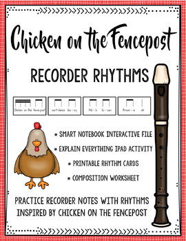 Chicken on the Fencepost Recorder & Rhythm Practice SmartBoard, iPads