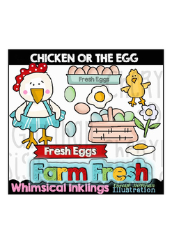 Chicken or the Egg Clipart Collection
