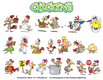Chickens Cartoon Clipart