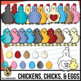 Chickens, Chicks, & Eggs Clip Art