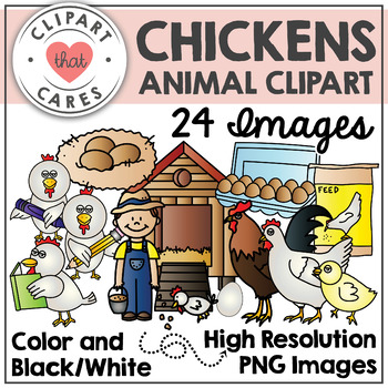 Chickens Clipart by Clipart that Cares