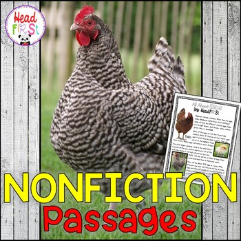 Chickens Nonfiction Guided Reading Comprehension and Fluency Passages