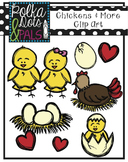 Chickens and More Clip Art (Polka Dots and Pals)
