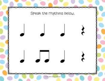 Chicks & Bunnies Peeps - Rhythm Pre-Reading Activity, Ta, Ti-ti, Ta Rest, Kodaly