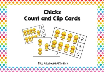 Chicks - Count and Clip Cards