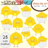 Spring/Easter Chicks & Eggs Set: Clip Art Graphics for Teachers