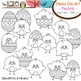 Spring/Easter Chicks & Eggs Set in Pastel Colors: Clip Art Graphics for Teachers