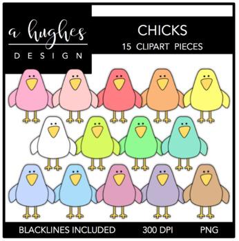 Chicks Clipart {A Hughes Design}