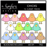 Chicks Clipart {A Hughes Design}