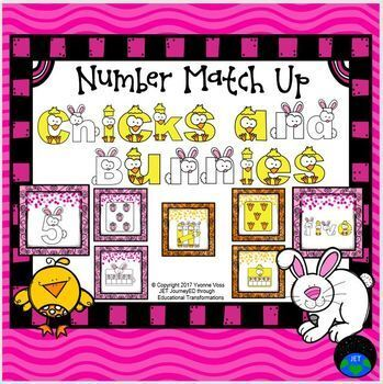 Chicks and Bunnies Number Match Up