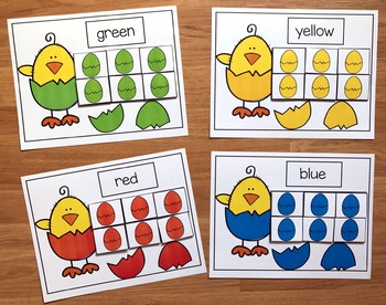 Chicks and Eggs Color Sorting Mats