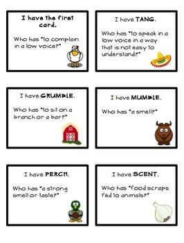 "Chicks and Salsa ""I have…Who has…"" Vocabulary Activity"