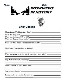 Chief Joseph Research and interview Assignment