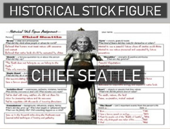 Chief Seattle Historical Stick Figure (Mini-biography)