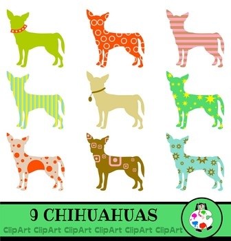 Chihuahua Dog Clipart - Pet Icon Silhouettes