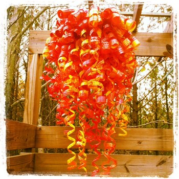Chihuly Recycled Art Water Bottle Sculpture
