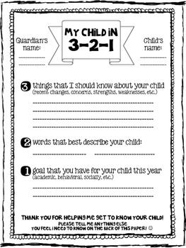 Child 321 Form