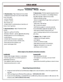 Child Abuse Handout with Resourses
