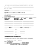 Child Abuse and Neglect Reporting Form
